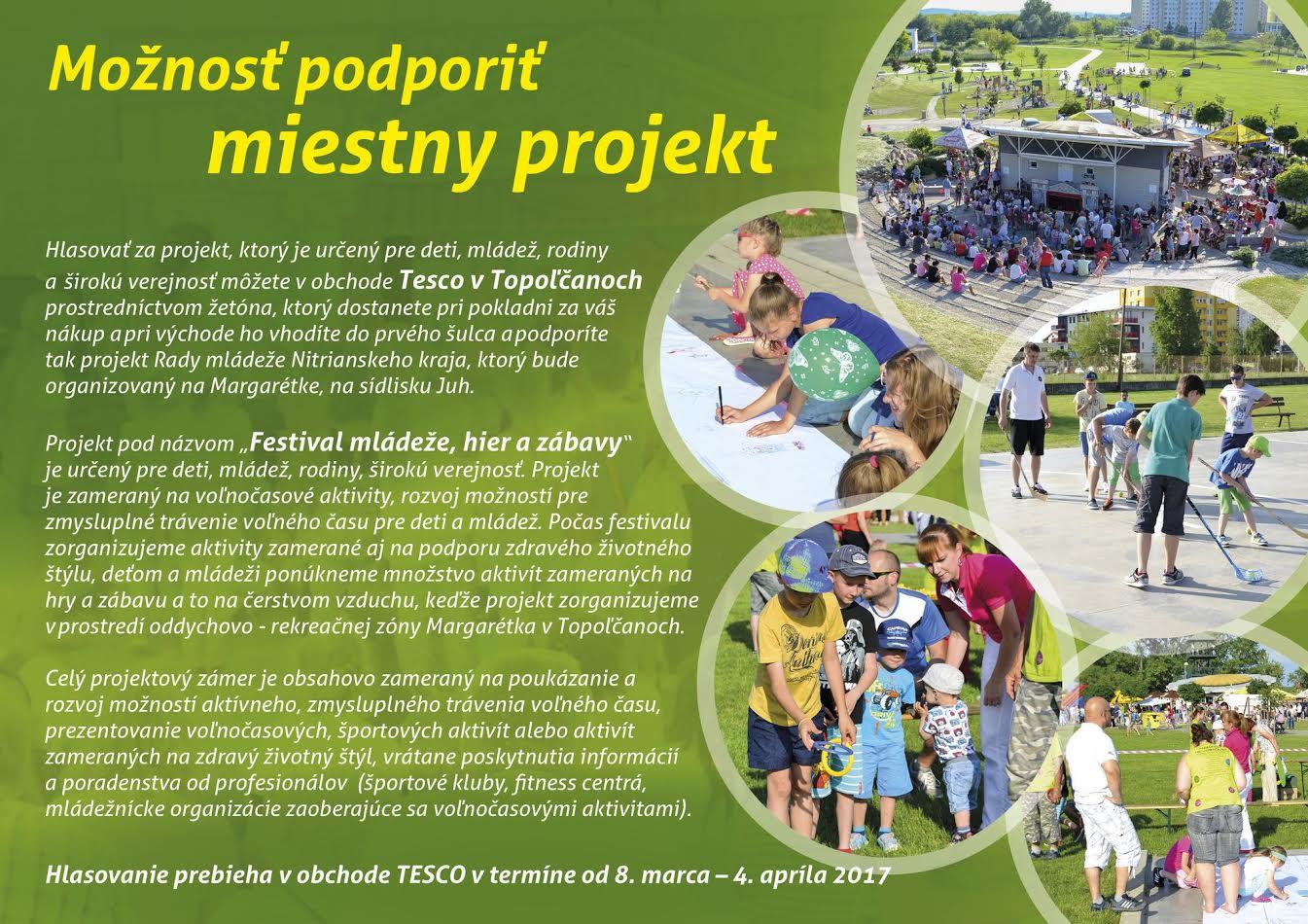 64173a1486 Možnosť podporiť miestny projekt - Šport a relax